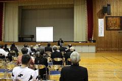 鎌倉芳太郎顕彰碑建立記念講演会-氷上小学校-