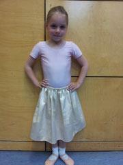 Merle bei ihrer ersten Ballettaufführung