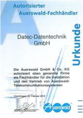 Auerswald autorisierter Fachhändler