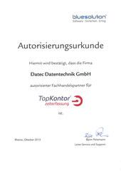 Autorisierter Fachhandelspartner TopKontor Zeiterfassung