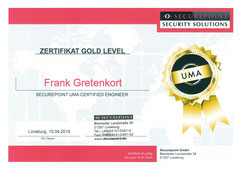 Securepoint - UMA Certified Engineer Gold