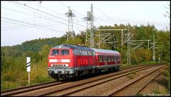 Am 08.10.2010 wurde 218 430 zwischen Niederwiesa und Chemnitz entdeckt.