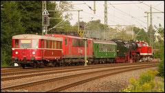 Rückfahrt nach dem Heizhausfest am 23.08.2010 in Richtung Eisenach, hier mit Dampflok 41 1144.