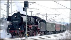 Am 20.02.2010 Schnellzuglok 03 2204, Baujahr 1936, heutiger Standort Lausitzer Dampflokclub.