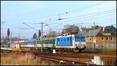 Selten zu sehen in Niederwiesa. Die 371 002 der Tschechischen Staatsbahn zieht den Eurocity Berlin - Prag am 21.11.2010 in Richtung Dresden.