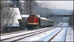 Chemnitzer Sonderzug läuft am 28.11.2010 mit 112 565 als Lichtelfahrt ins Erzgebirge.