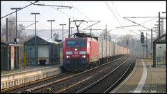Umleiter am 21.11.2010 noch im Morgendunst: Praha - Seehafen Hamburg mit 189 009.