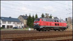 Messfahrten auf den Erzgebirgsstrecken mit 218 324 infradat am 13.04.2010.