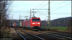 Hamburg Seehafen - Praha mit Vorspannlok 185 059