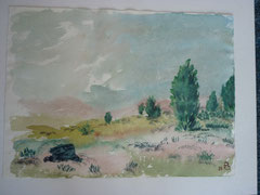 In der Heide - Aquarell