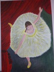 Die Tänzerin  - einem Gemälde des Malers Degas nachempfunden