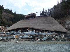 被災後の尾形家住宅