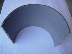 Material en bruto de la placa central