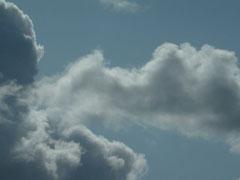 Sehr bedrohlicher Himmel beim Wandern
