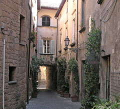 Gassen in Orvieto