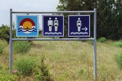 Eindeutige Geschlechterteilung am Strand