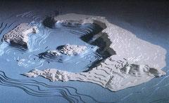 Montée du magma au centre de la caldéra. Bientôt (?) un autre volcan potentiel.