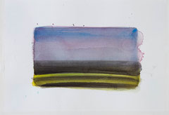 o.T. 2010 Aquarellfarbe 20 x 29,6 cm Motiv ca. 11 x 19,5 cm