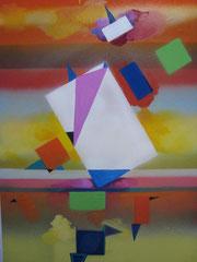 geometrie n° 1 huile sur panneau 15 F  vendue