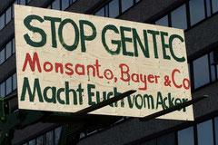 Bauern demonstrieren in Düsseldorf, dem Deutschen Sitz von Monsanto, gegen die Gentechnik / Genmais - Deutschland