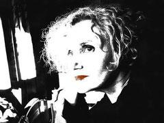 Sylvie Lander-peinture-digitale-autoportrait