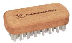 Handwerkerbürste - für Garten und Hanwerk. Geöltes Buchenholz. Extra hart,extra stabil. Hochwertiges Nylon 6/12. 5 x 11,5 cm.