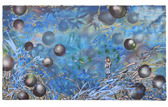 DIE SCHLAFENDEN TAGE, 2017, Öl und Acryl auf Leinwand, 2-teilig, je 80 x 140 cm