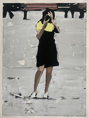 FREEZE 2019 Gouache auf Papier 42 x 32,5 cm