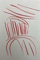 O. T., Farbstift auf Papier, 40 x 30 cm
