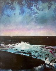 VOM MEERE KÜHL, AN WARME GESTADE WEHN (RAINBOW),  2021, Öl und Acryl auf Leinwand, 150 x 120 cm