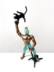 Cat Man 2012-2019 Bronze, patiniert 20 x 9 x 6 cm Ed. 5/20