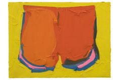 ORANGE PANTS, 2016, Öl auf Leinwand, 90 x 120 cm