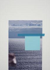 NEW HORIZON, 2017, Mixed-Media Collage 41 x 30 cm, Unikat