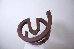 SPIRALE UND HAUS II (Modell), 2012, Corten, 78 cm x 70 cm x 60 cm