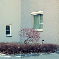 ECKE I,  40 x 40 cm  (auch in 60 x 60 cm erhältlich), Archivpigmentprint auf Hahnemühle Photo Rag Ultra Smooth, Halbe Objektahmen mit Mirogard Museumsglas, Ed. 13+2AP