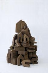 SPIEL IV, (TURM ZU BABEL), 2013, Wenge, 70 x 50 x 50 cm