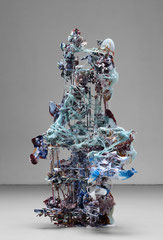 Heringa/Van Kalsbeek, UNTITLED, 2012, Porzellan, Harz, Stahl, Stoff,  137 x 70 x 55 cm