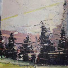 LIGHTS AND SHADOWS, 2013, Öl auf Leinwand, 150 x 150 cm