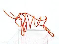 TORO 2010-2020 Kupfer, Gummibeschichtung leuchtorange 24 x 52 x 16 cm Unikatedition, offen