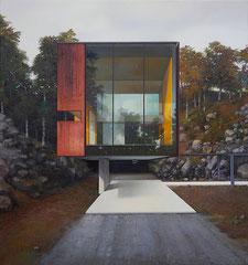 MODERN HOUSE, NO. 32 - Haus am Wald, 2020, 160 x 150 cm verkauft