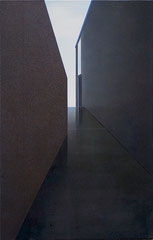 THE BUILDING, 2020, Öl auf Leinwand, 110 x 70 cm