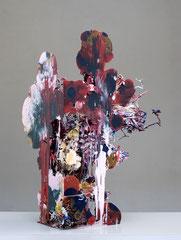 Heringa/Van Kalsbeek, UNTITLED, 2009, Porzellan, Harz, Stahl, Stoff, 95 x 75 x 65 cm
