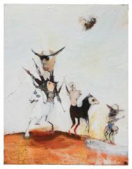 Three sons of Katie elder 2021 Mischtechnik auf Leinwand 135 x 105 cm