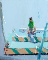 GREEN SERIES NO. 39, 2016, Acryl auf Leinwand, 100 x 80 cm