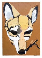 FOX, 2016, Öl auf Leinwand, 100 x 70 cm