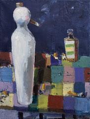 ALIBI UND OPTIMISMUS, 2018, Öl auf Leinwand, 40 x 30cm
