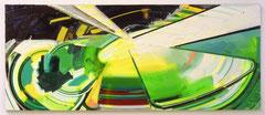 GIFT, 2005, Öl und Spray auf Leinwand, 160 x 400 cm