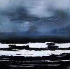 MEIO, 2016, Öl, Acryl, Kohle auf Leinwand, 30 x 30 cm