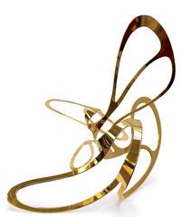 GOLDENER SCHNITT, 2016, Kupfer 2mm, Vergoldet (Feingold), 30 x 28 x 27 cm, Ex.: 1 / 3 Auflage 3 + 1 a. p