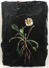 Margritli, 2019, Öl und Acryl auf Holz, 15 x 10 cm